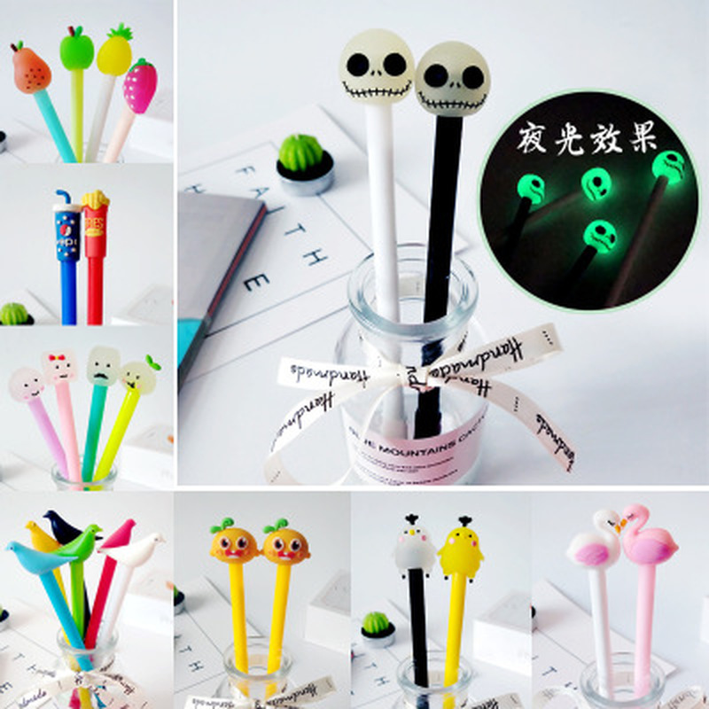 1pcs Unicorn Gel Pen Flamingo Gel Pens 0.5mm Novelty Cartoon Stationery Kawaii Pen Student Cute Pens Kawaii School Supplies