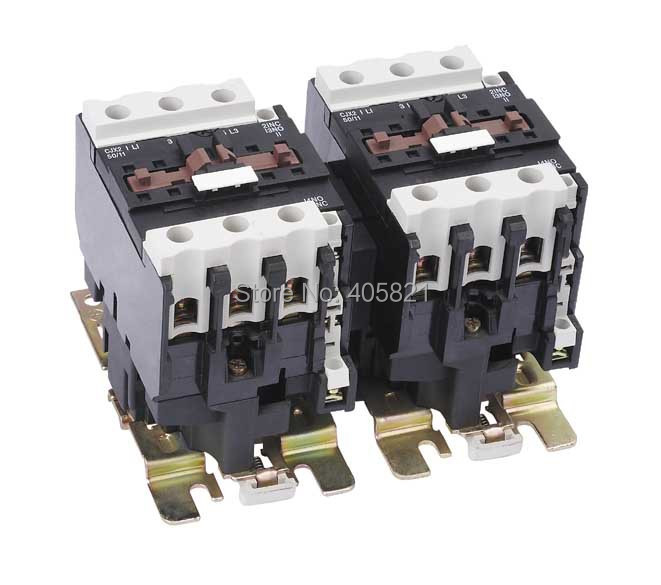 50A Mechanical Interlocking Contactor LC2-D5011/CJX2-50N cjx2 115n mechanical interlocking contactor 115a