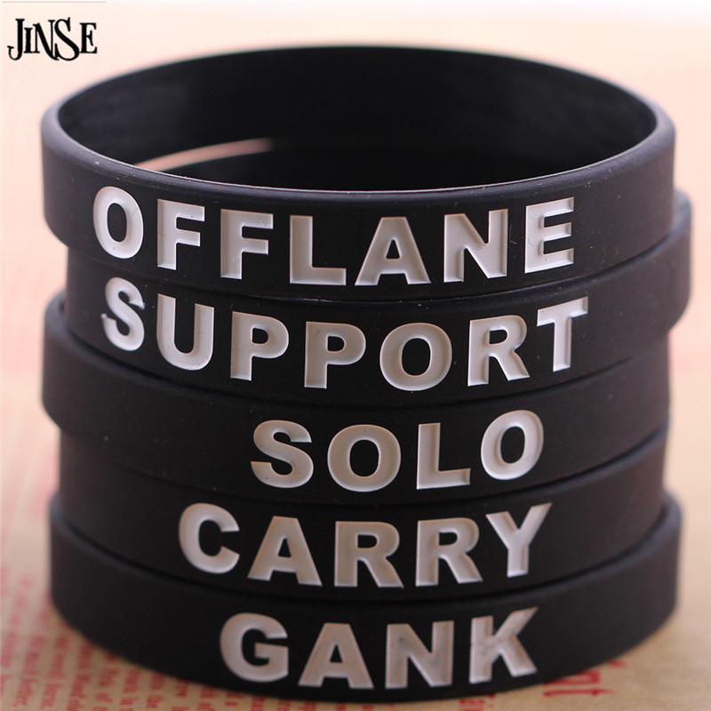JINSE Game Dota 2 Silicone font b Bracelet b font Fill Quality Intaglio font b Bracelet