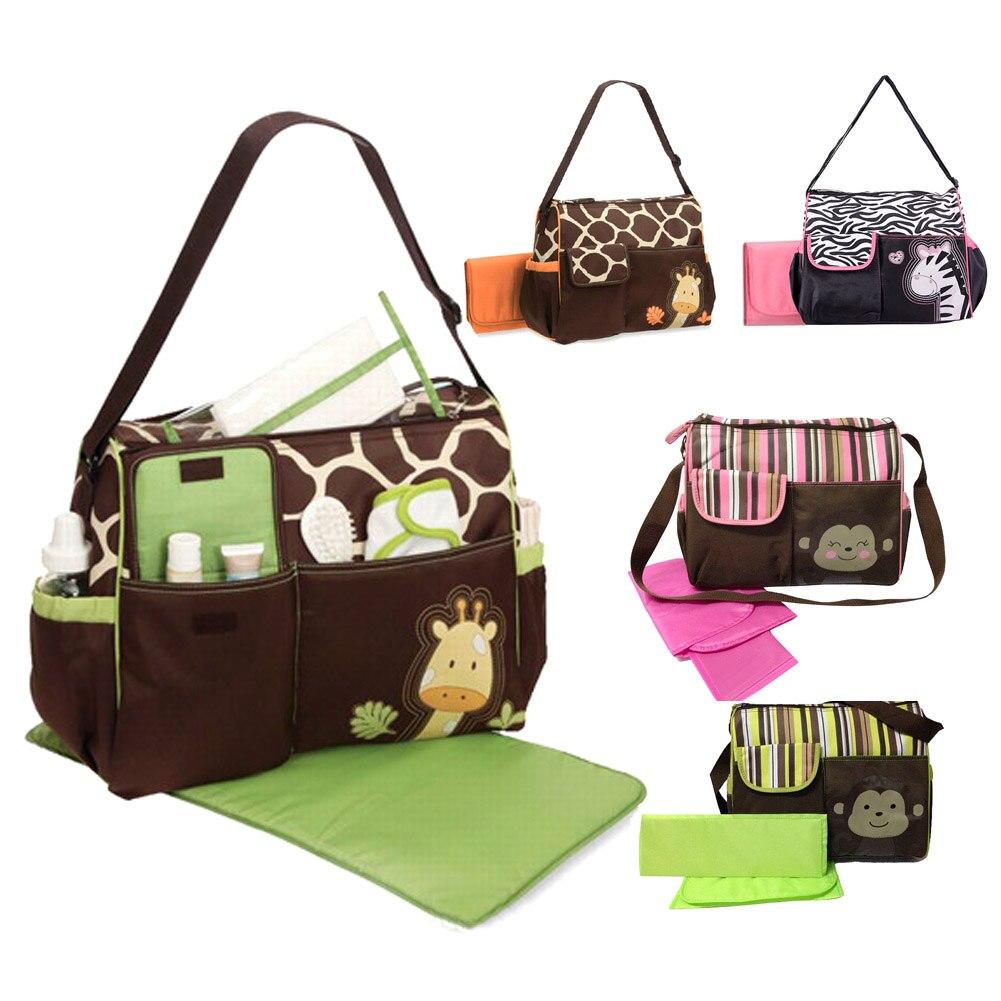 Multifunctional Baby Diaper Nappy Changing Bag Mummy Handbag Giraffe Pattern Cute 3 Styles High Capacity Summer Hot 30