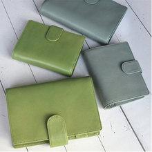 Presell Yiwi 15mm Ring Genuine Leather Rings Planner Notebook A7 Mini Agenda Organizer Binder Cowhide Diary Journal Sketchbook