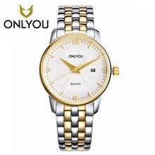 ONLYOU men watches Luxury Casual Military Quartz Sports women Wristwatch Steel strip Male Clock watch ultra thin Simple watches