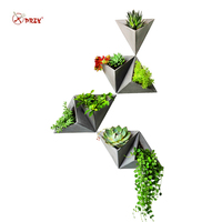 Triangle shape Wall hanging cement flowerpot silicone mold silicone concrete pot molds for home decorations S9035