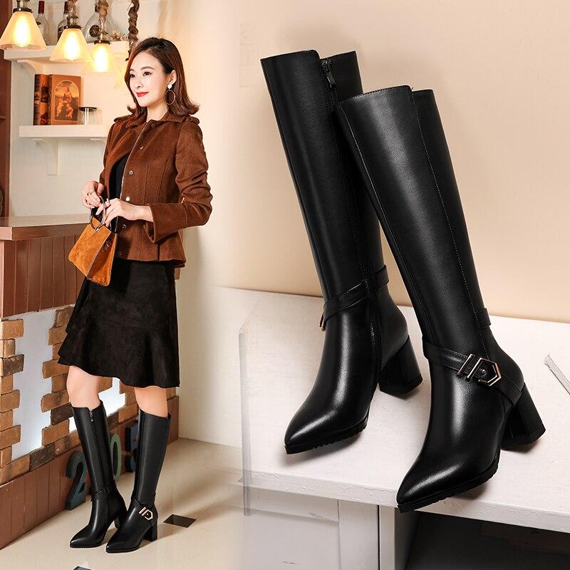 Повседневные модные кожаные ботинки с белым воротником