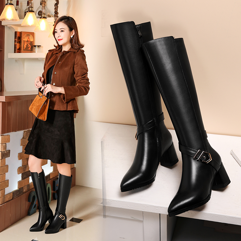 Dating, casual, mode weiß kragen leder stiefel