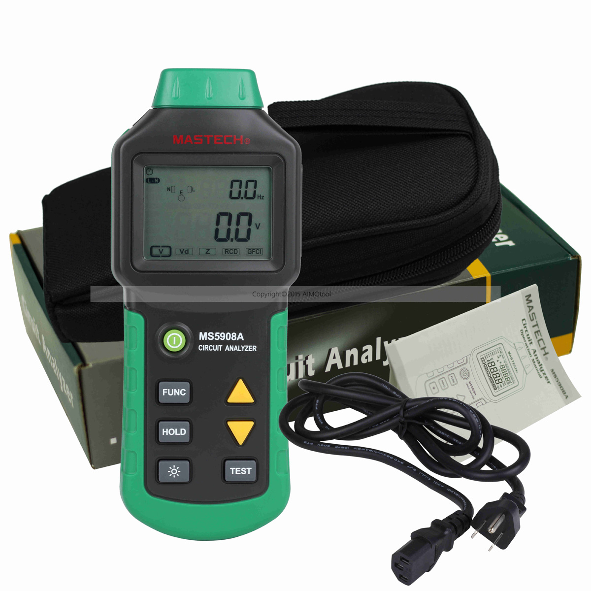 все цены на  M111 Mastech MS5908A RMS Circuit Analyzer Tester Compared w/ IDEAL Sure Test Socket Tester 61-164CN 110V or 220V RCD GFCI  онлайн