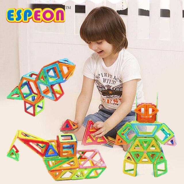 21Pcs/Set 3D Magnetic Designer Building Blocks Enlighten Bricks Assemblage Magnetic Blocks Educational Toys Kids Christmas Gift