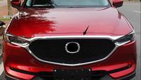 크롬 프론트 후드 보닛 그릴 그릴 립 커버 트림 바 몰딩 프로텍터 For Mazda Cx 5 Cx5 2017 2018 2019 자동차 스타일링|크로뮴 스타일링|   -