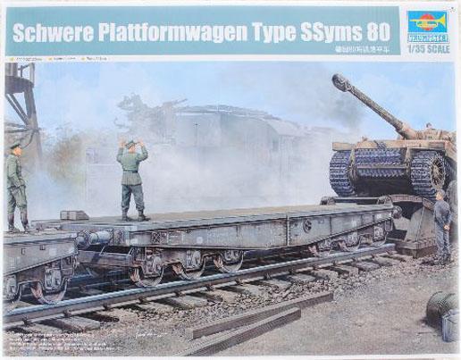 Trumpeter 00221 1/35 German Schwere Plattformwagen Type SSyms 80 Plastic model kit все цены