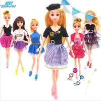 LeadingStar Barbie Doll Dresses 6 Party Dress 12 Casual Skirt Set Random Color And Styles With