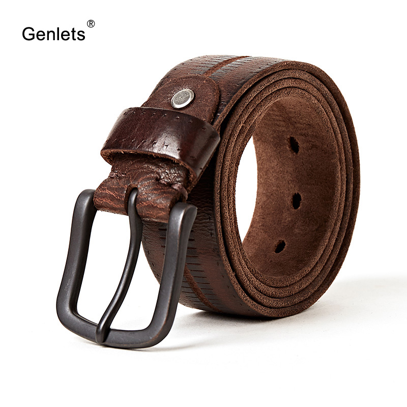 2018 new Luxury belt men leather belt men black buckle jean strap for male genuine leather army green color thong