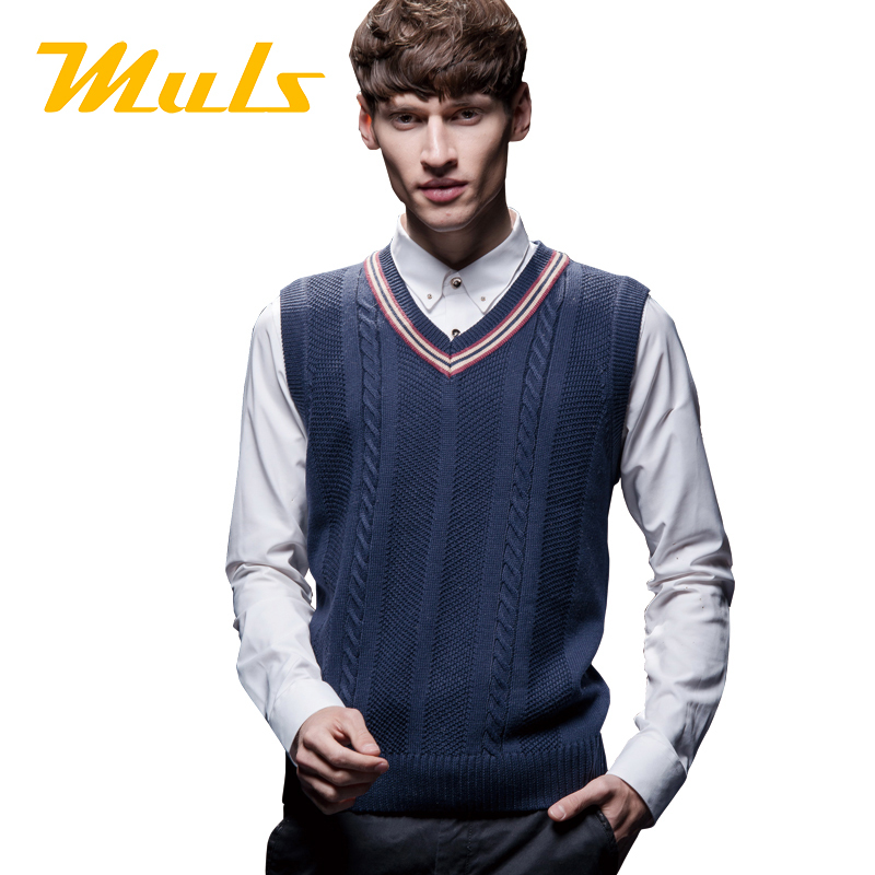 Mens sleeveless pullover cricket sweater MULS pepe jeans brand ...