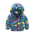 Buenos Ninos Children Wear Winter Cotton Jacket Hooded Character Pattern Cotton-padded Coat In Winter