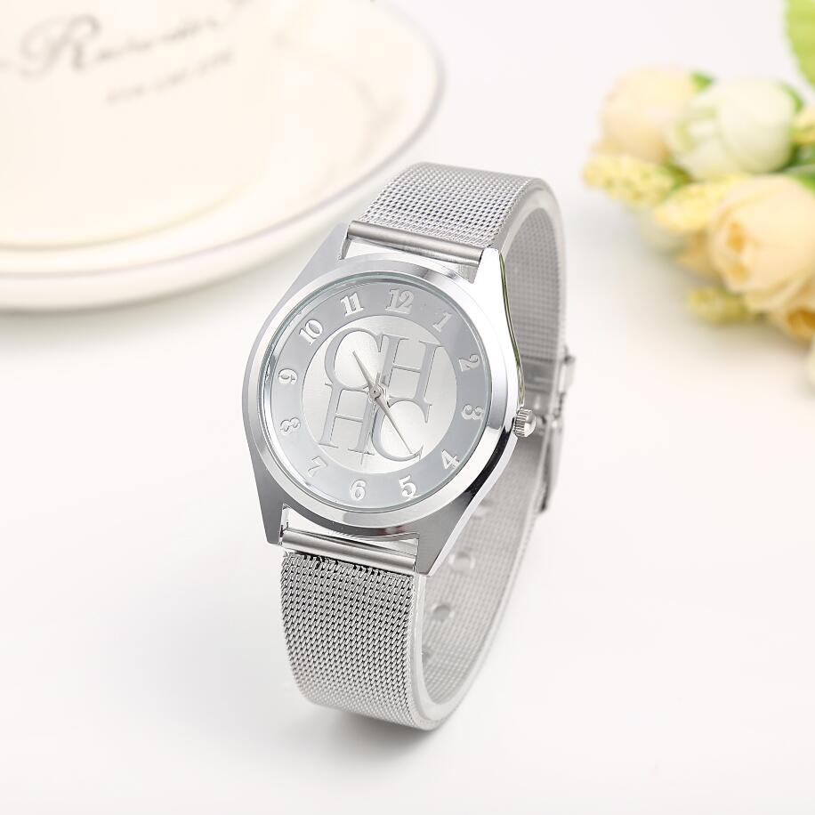 New Famous Luxury Brands Fashion Ladies Watch Stainless Steel Quartz Wristwatch Kobiet Zegarka Women Watch Relogio Feminino