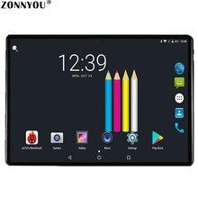 2.5D стальной экран 10,1 планшетный ПК Android 8,0 Google 3g вызов Восьмиядерный 4 Гб ram 64 Гб rom Wi-Fi Bluetooth ips стекло детский планшет