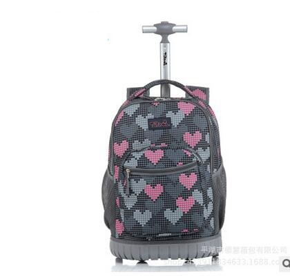 Kids 18 Inch Wheeled Bags School Trolley Bag For Girls Trolley Backpack On Wheels School Rolling Backpack Bags For Teenagers