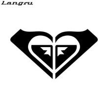 Langru – autocollants personnalisés avec Logo Roxy Heart, accessoires de voiture de Skateboard, Jdm