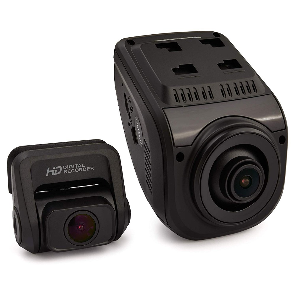 цена на Rexing V1P 3rd Generation Dual 1080p Full HD Front and Rear Camera 170 Degree Wide Angle Wi-Fi Car Dash Cam with Supercapacitor