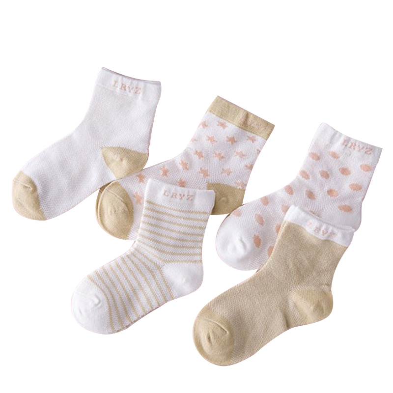 5Pairs/lot Infant Baby Socks Summer Mesh Thin Baby Socks for Girls Cotton Newborn Boy Toddler Socks Baby Clothes Accessories 2