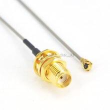 (10 peças/lote) 40cm 1.13 cabo de extensão sma anteparo fêmea para ufl./ipx rf conector trança cabo