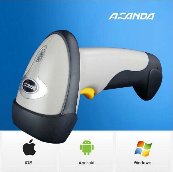 ФОТО High quality Wireless bluetooth barcode scanner Laser scanning decoder with function of storage For IOS Android Windows