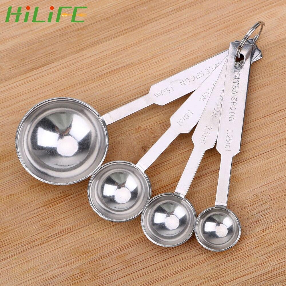 4Pcs Stainless Steel Measuring Cups /& Spoons Teaspoon Set DIY Baking Tools