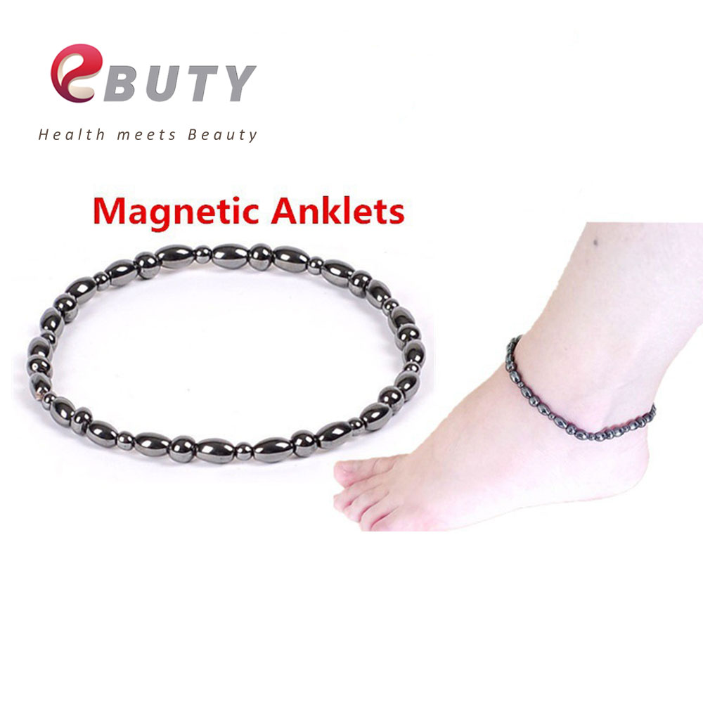 pin with beads and clasp magnetic hematite twist custom gauss black power anklet high