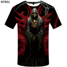 KYKU Brand Skull T shirt Women Punk Clothes 3D Tops Gothic 3d T-shirt Clothing Tshirt Womens Print Funny Fashion Slim