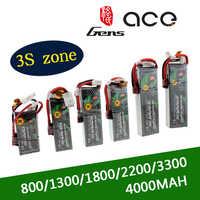 Gens ACE 2S Lipo 3S batería de 7,4 V 11,1 V 800mAh 1300mAh 1800mAh 2200mAh 3300mAh 4000mAh 5300mAh con T/XT60 macho