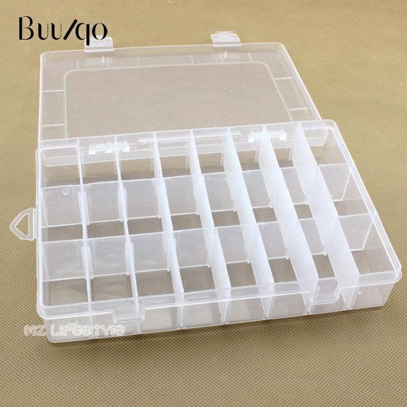 Buulqo 24 adet ızgaraları çıkarılabilir plastik saklama kutusu - Evdeki Organizasyon ve Depolama - Fotoğraf 2