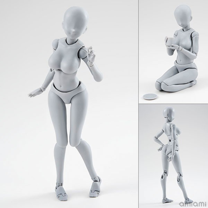 14cm body feminino Action Figure female male Toys Anime figure doll Drawing Mannequin bjd artist Art painting body model new anime action figure toys artist movable limbs male female 15cm joint body model mannequin art sketch draw kawaii action figures