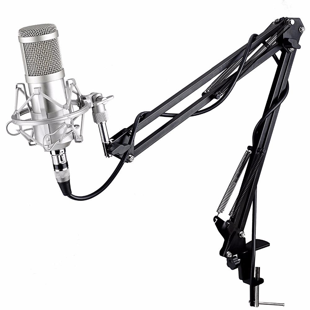 Prix pour Professionnel KTV Microphone bm 800 BM800 microphone À Condensateur Cardioïde Pro Audio Studio Vocal Enregistrement Mic KTV Karaoké + Métal Shock Mount