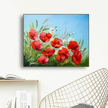 Laeacco Poppy Flower Posters and Prints Watercolor House Wall Artwork Canvas Painting For Home Living Room Decoration