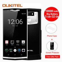 Oukitel k10000 Pro Мобильный телефон Android 7.0 10000 мАч 12 В 2 В 5.5 «MTK6750 qcta core 3 ГБ + 32 ГБ 13MP отпечатков пальцев 4 г LTE смартфон