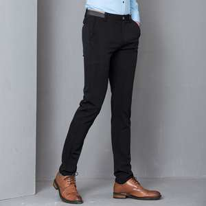 07560c61611 Devin Du Black Skinny Mens Pencil Pant Casual Male Trousers