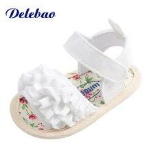 Сандалии delebao для маленьких девочек летние хлопковые босоножки