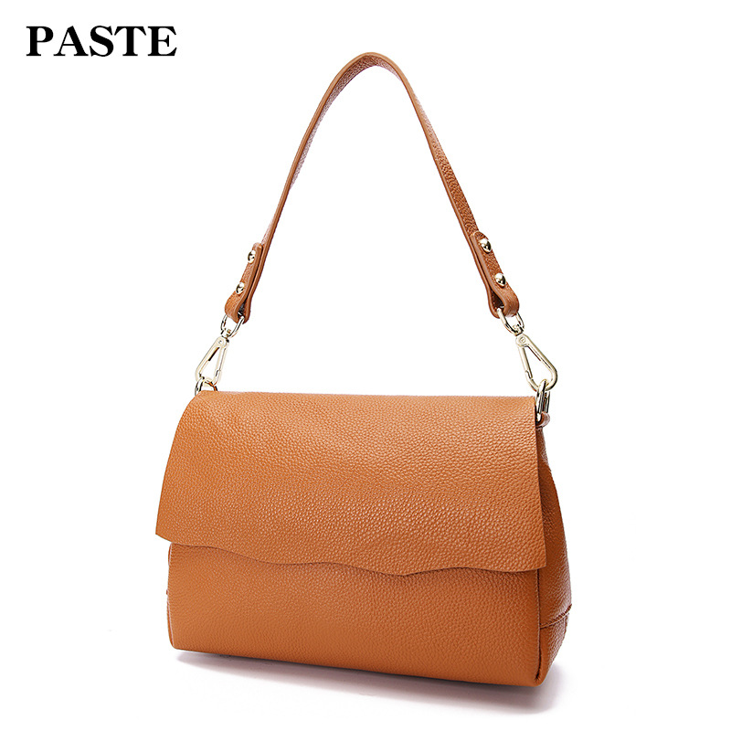 New 2018 Women leather Shoulder Bag Shell Bags Casual Handbags small messenger bag fashion 100% genuine leather small bag bag female new genuine leather handbags first layer of leather shoulder bag korean zipper small square bag mobile messenger bags