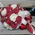 Tomados de la mano de la boda ramo de flores con flores de novia coreana bola de la flor de los apoyos de la boda flores
