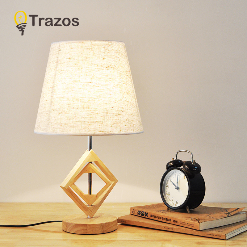 TRAZOS Modern Table Lamp With Fabric Lampshade LED Lamparas de mesa Metal Desk Light E27 Hotel Lighting Deco Luminaria de mesa desk lamp e27 base fabric lampshade table lamp for study abajur para quarto luminaria de mesa ac220 eu plug switch light
