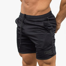 Mens summer new fitness shorts Fashion leisure Workout gyms Bodybuilding Joggers Breathable short pants Slim fit Brand clothing
