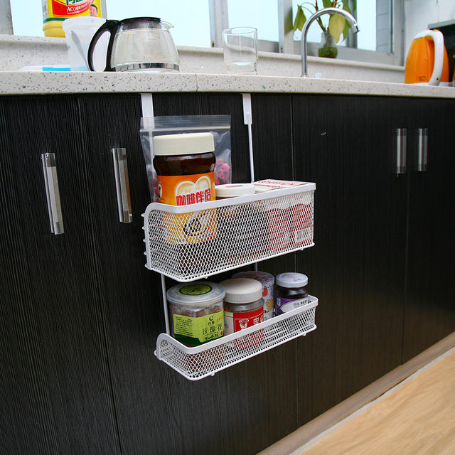Inter Design Axis Over The Cabinet Kitchen Storage Organizer Basket For Aluminum Foil Sandwich Bags Cleaning Supplies