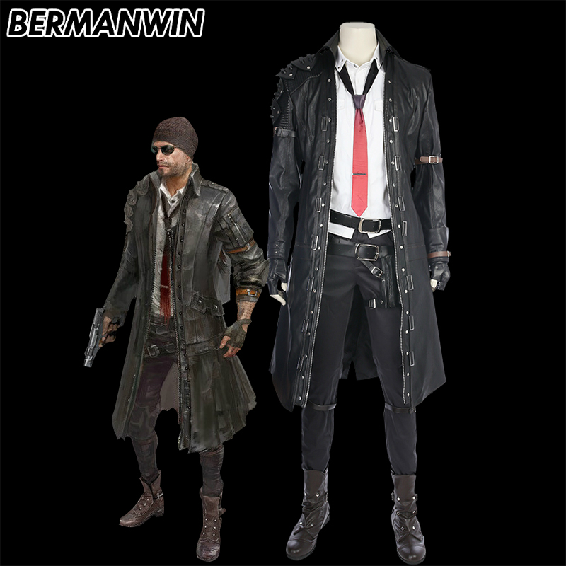 BERMANWIN High Quality Game Character PUBG Cosplay Costume PLAYERUNKNOWN'S BATTLEGROUNDS Costume Halloween Costume For Men