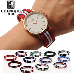 Nylon Watch Strap For Daniel Wellington Women Watches Strap Canvas Watchbands Colorful Watch Band For Men For DW Watch Montre