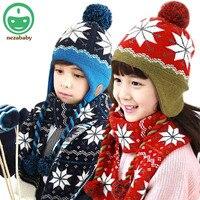 2015 Hot Children Winter Hat Baby Child Scarf Hat For Girls Boys Knited Hat Caps Children