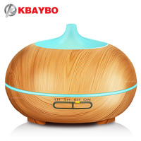300ml Ultrasonic Humidifier Essential Oil Diffuser Aroma Lamp Aromatherapy Electric Aroma Diffuser Mist Maker Wood Grain