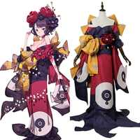 Fate Grand Order Cosplay Katsushika Hokusai Kimono Outfit Cosplay Costume Adult Full Set Halloween Carnival Cosplay