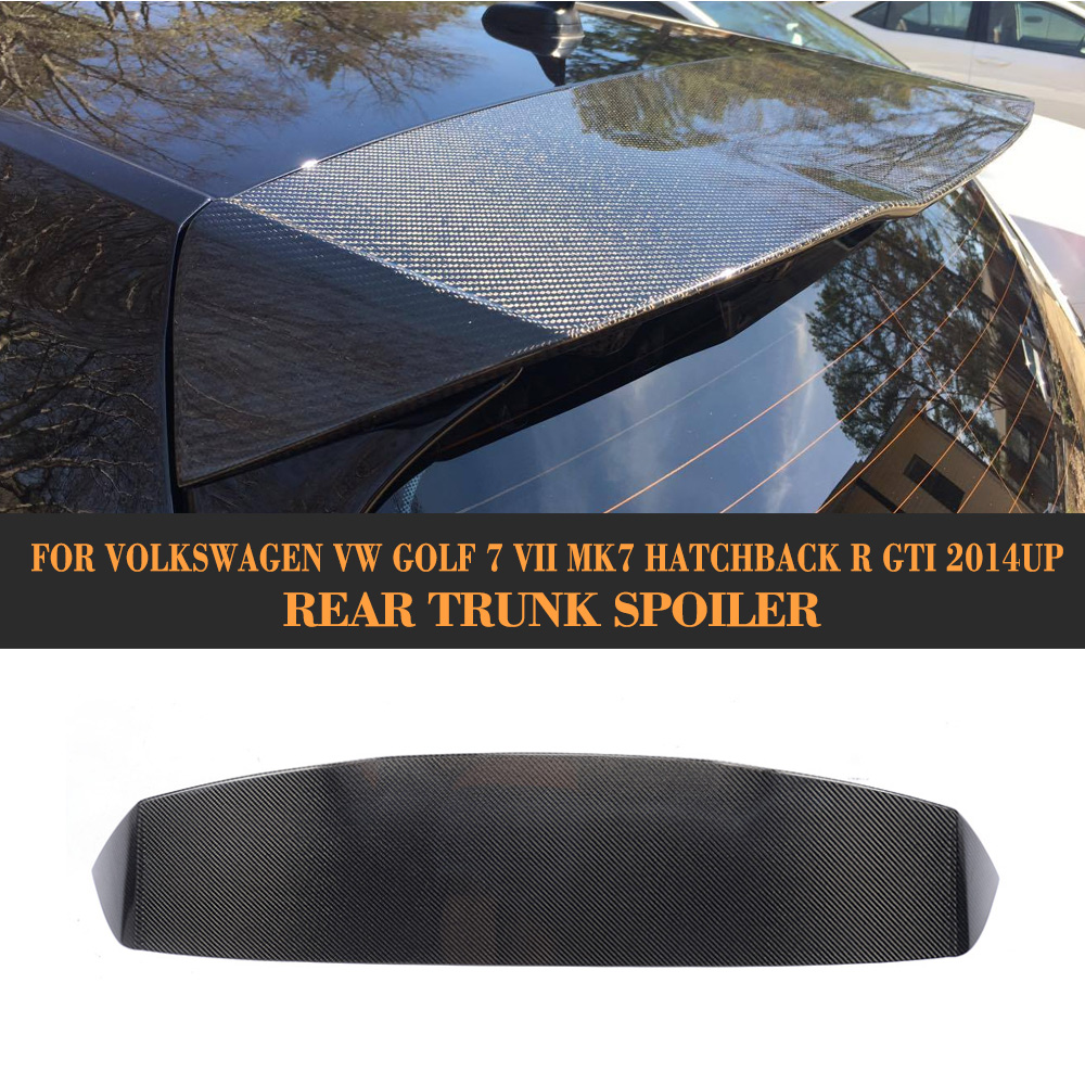 цена на Carbon Fiber Rear roof Spoiler lip Wing for Volkswagen VW GOLF 7 VII GTI And R Hatchback Not Standard 2014-2017 ABT Style