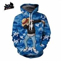 AC&DBZ New Camo Fashion Pocket Hoodie Sweatshirt Top One Piece DAB Street Hip Hop Ludo 3D Print Anime Hoodie Sweatshirt