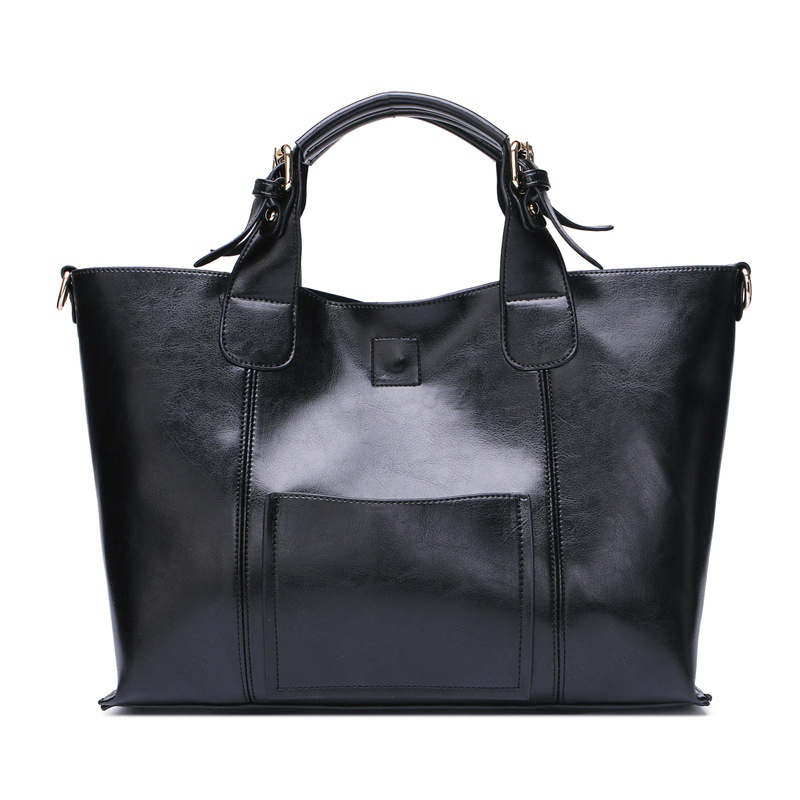 ФОТО Hot Selling Ladies Leather Tote Bags For Women Large Shoulder Bag Brand Leather Bags High Quality Designer Women Crossbody Bags