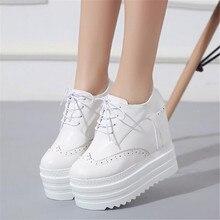 Zapatos de Mujer de primavera 12 cm zapatos de Tacón Alto Mujeres de la Plataforma Zapatos de Tacones de Cuña de Las Mujeres Zapatos Del Elevador Casual Zapatos Para Mujeres Botines